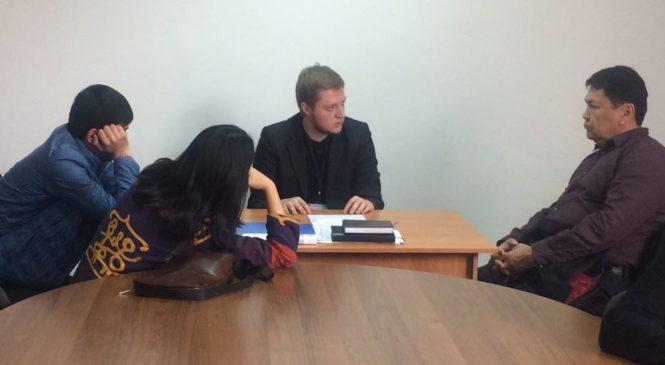 Город Алматы. Работа выездной комиссии РОО «Центр развития медиации»