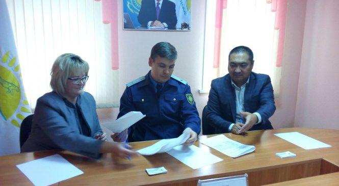 Заключение трехстороннего Меморандума в Шемонаихинском районе с Прокурором и Шемонаихинским РОВД
