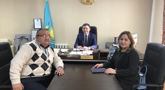 — 25.01.2019 года прошла рабочая встреча с председателем административного суда г. Астаны Рахматуллаевым У.Г.